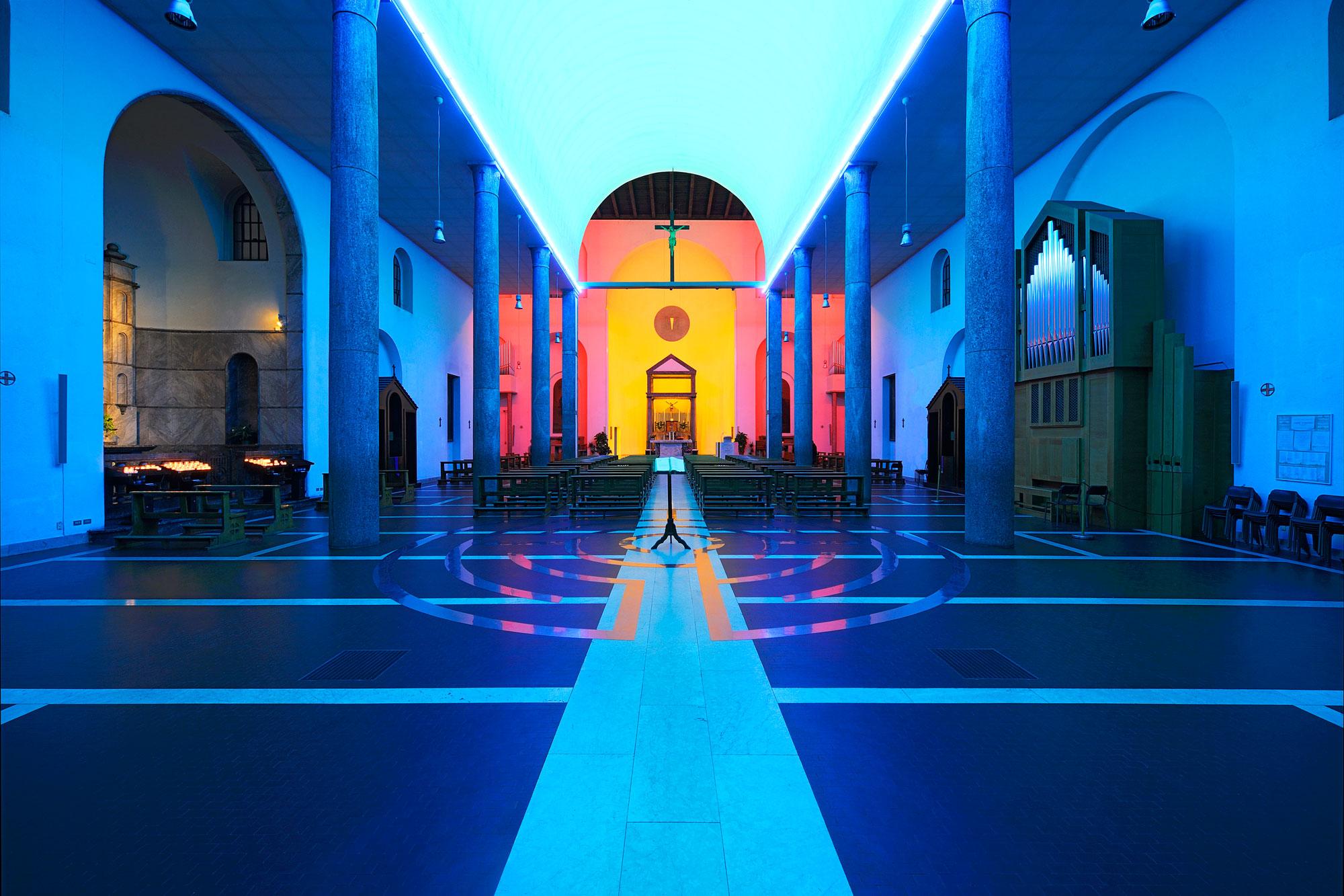 Dan Flavin, Untitled (Chiesa Rossa a Milano, dal 1996)