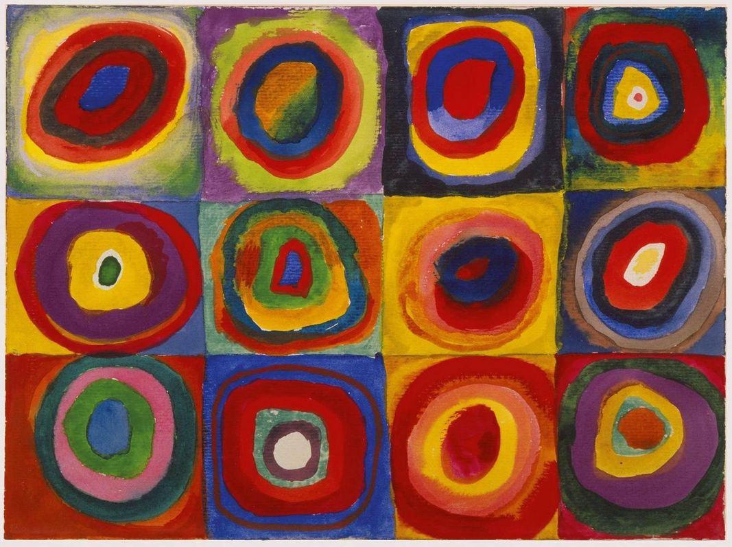 Kandinsky, Color Study (1913)