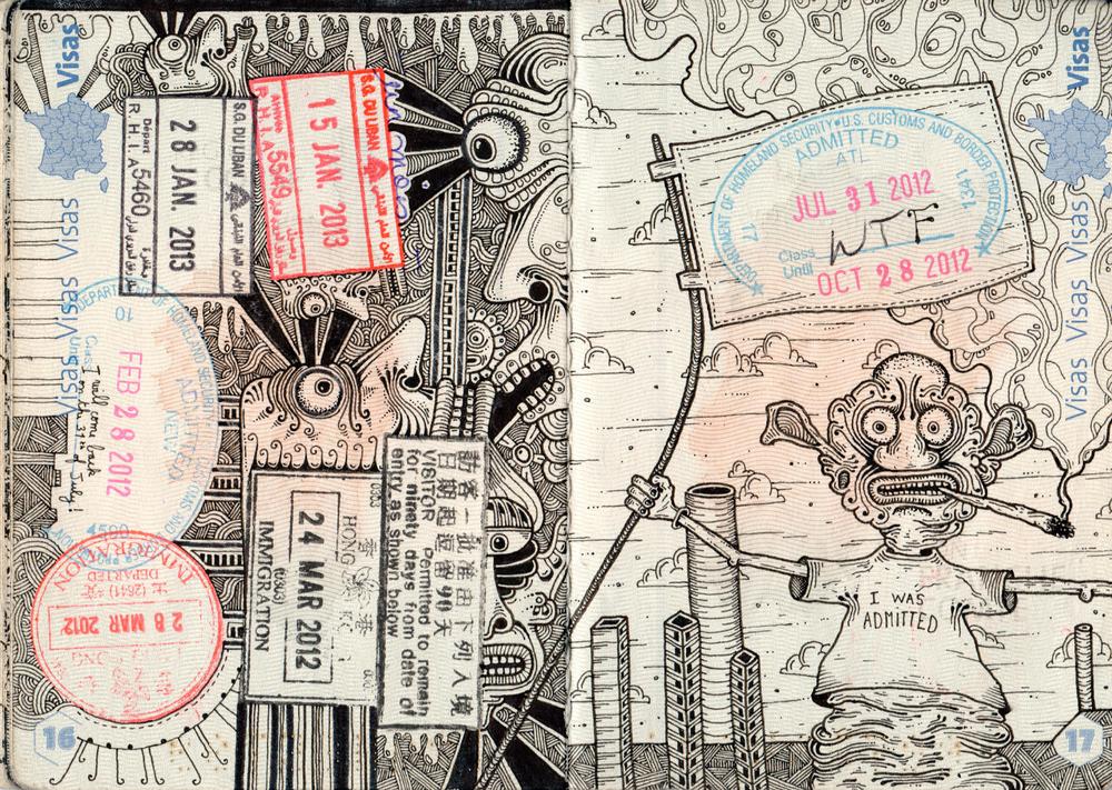 Lèonard Combier, Passport drawing (2015)