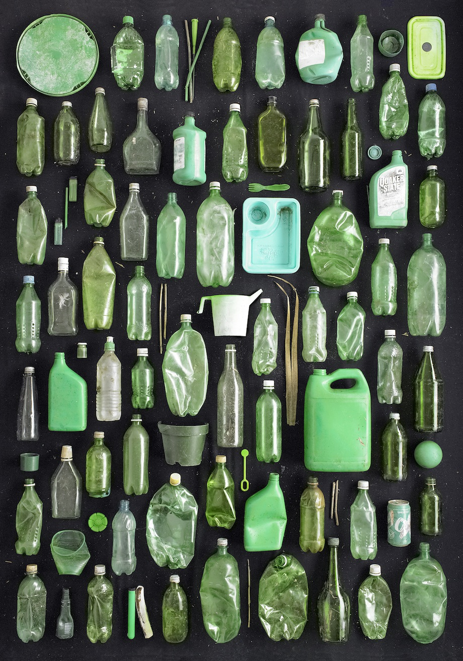Barry Rosenthal, Found in Nature, Green Containers