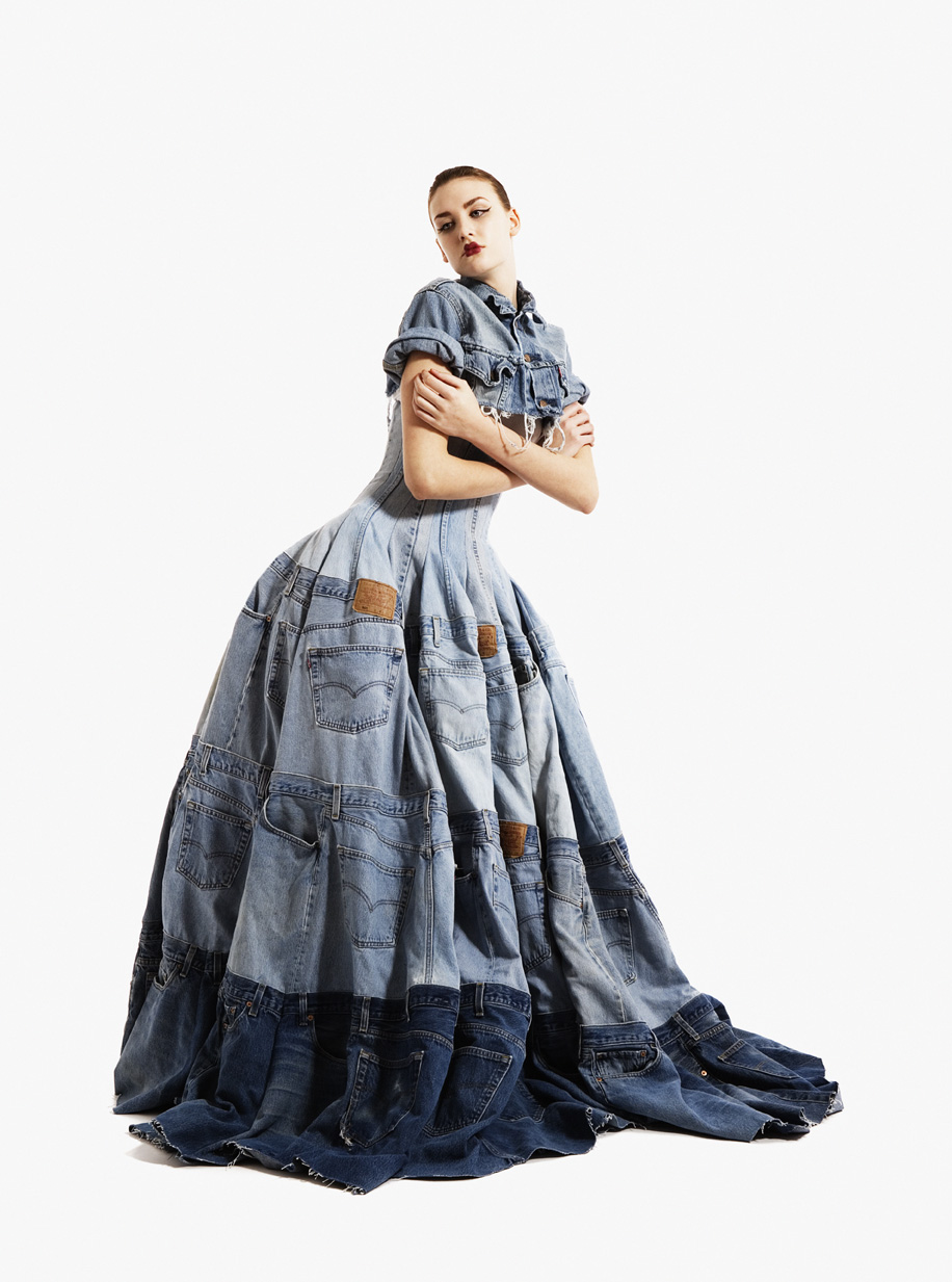 Gary Harvey, Denim Dress, Eco Couture