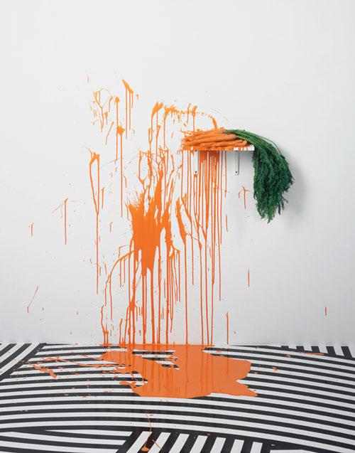 Jim Lambie, 14 carrots-The strokes, Rowche Rumble, Gerhardsen Gerner, Berlino (2008)