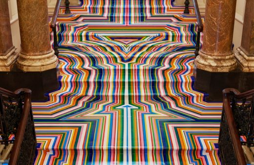 Jim Lambie, Zobop Stairs, Royal Academy of Arts, London (2015)