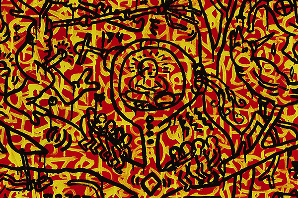 Keith Haring, The last rainforest, dettaglio (1989)