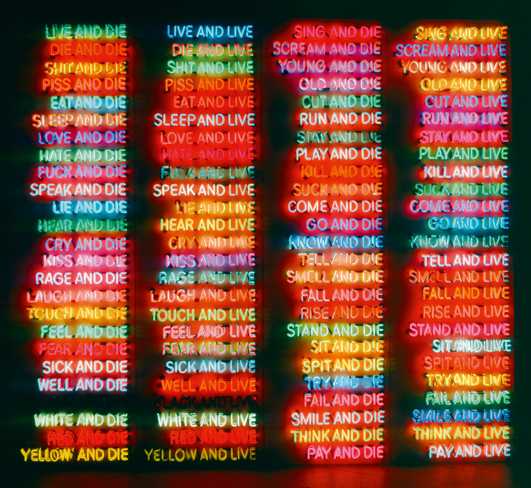 Bruce Nauman, One Hundred Live and Die (1984)