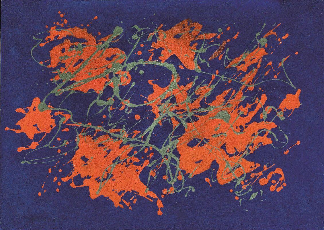 Giulio Turcato, Arcipelago, studio sulle sabbie colorate (1971)