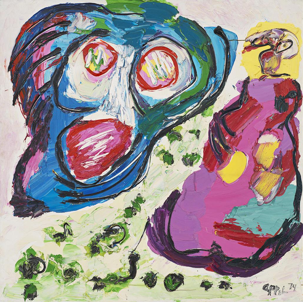 Karel Appel, Flying Head (1974)