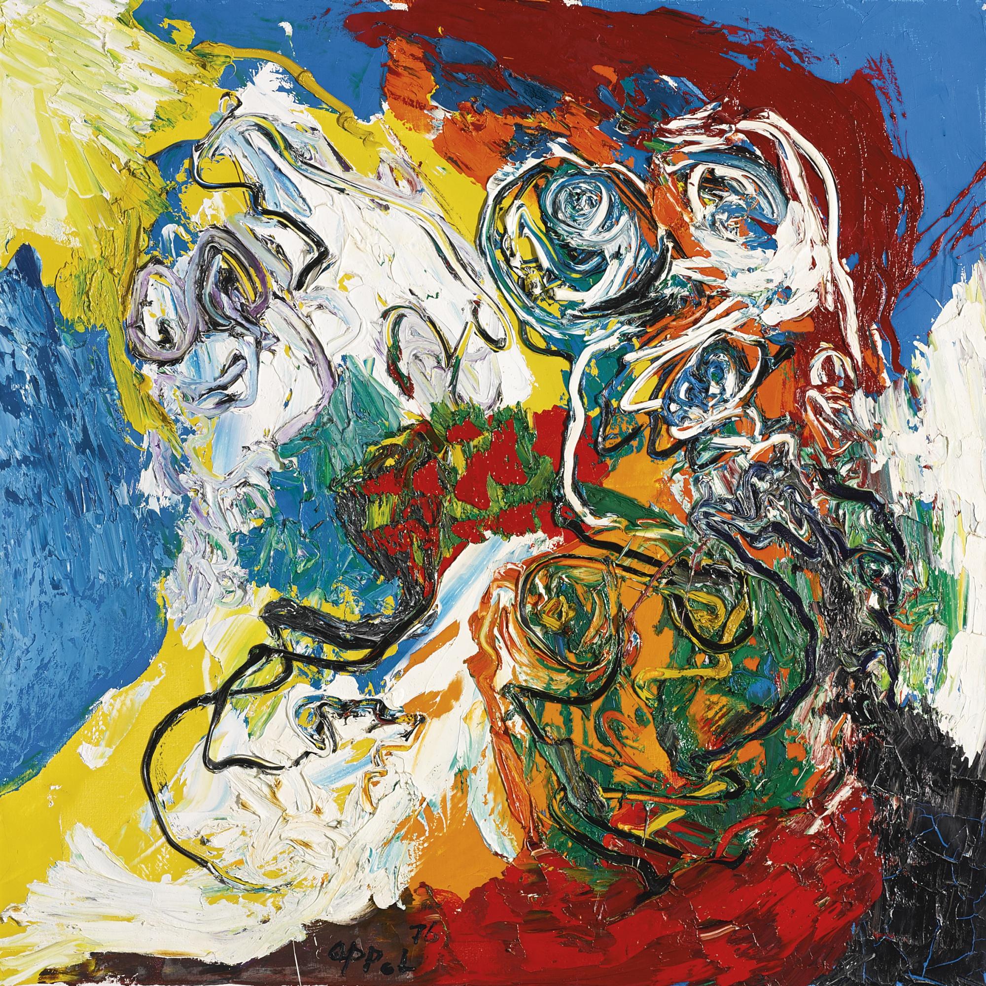 Karel Appel, Smiling Heads (1976)