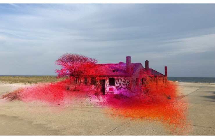 Katharina Grosse, Rockaway!, Fort Tilden, New York (2016)