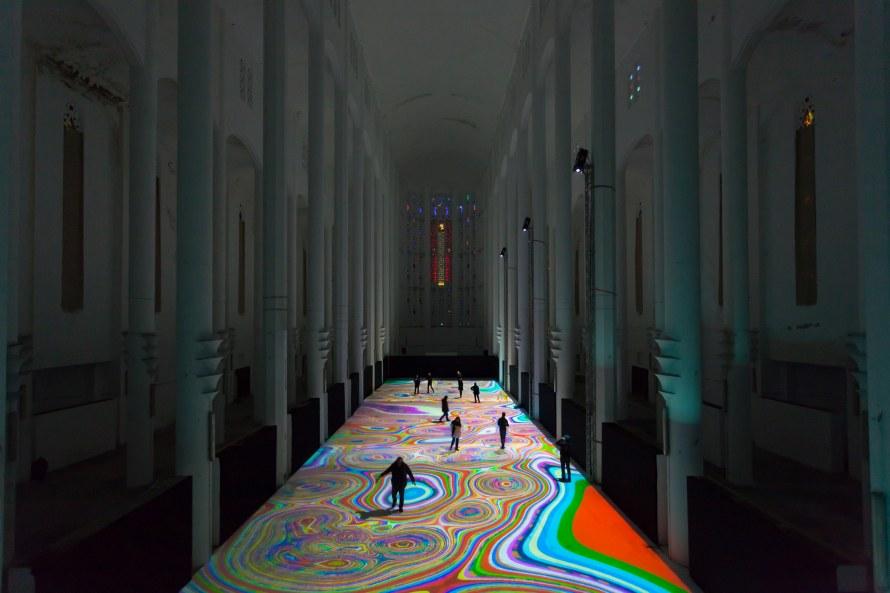 Miguel Chevalier, Magic Carpets, Ex Chiesa del Sacro Cuore, Casablanca, Marocco (2014)