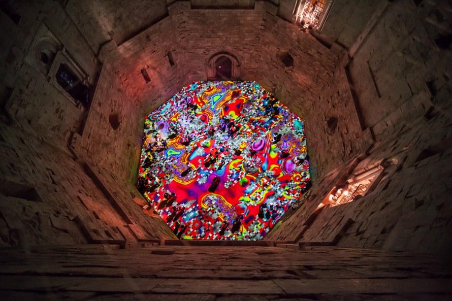Miguel Chevalier, Magic Carpets, Festival Internazionale di Andria Castel dei Mondi, Castel del Monte, Andria, Italia (2014)