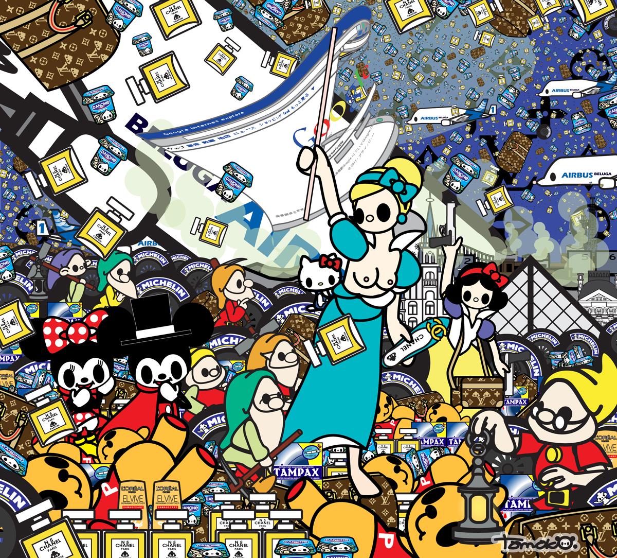 Tomoko Nagao, Delacroix, La liberte guidant le peuple (2015)